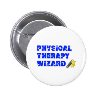 Physical Therapy Wizard Pinback Button