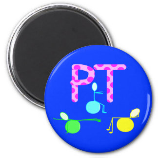 Physical Therpist Gifts With Unique Graphics 2 Inch Round Magnet