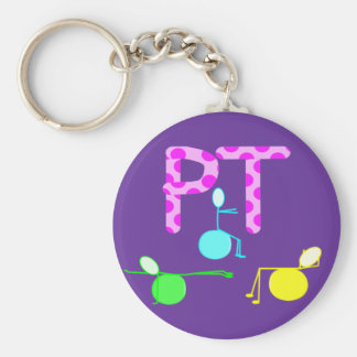 Physical Therpist Gifts With Unique Graphics Basic Round Button Keychain
