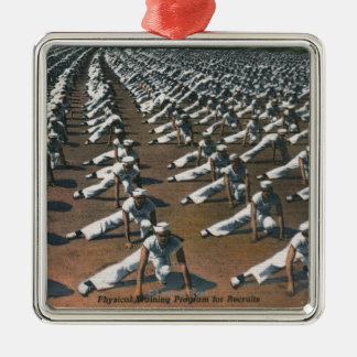 Physical Training Program for Recruits - US Navy Metal Ornament