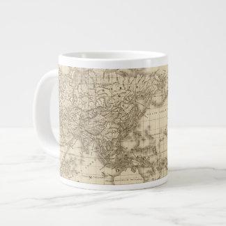 Physical world map large coffee mug