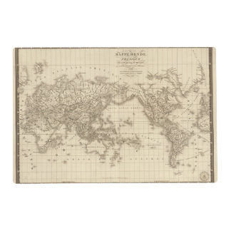 Physical world map placemat