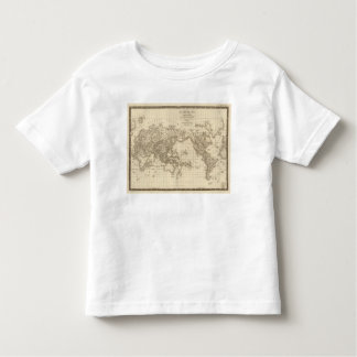 Physical world map toddler t-shirt