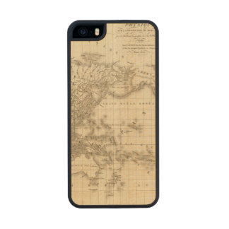 Physical world map carved® maple iPhone 5 slim case