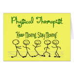 physicall Therapist Stick People Card