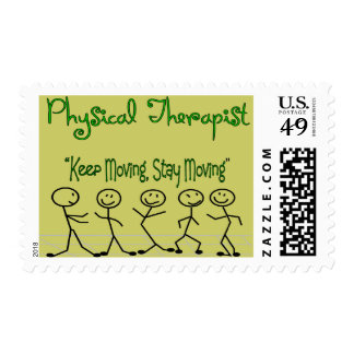 physicall Therapist Stick People Postage