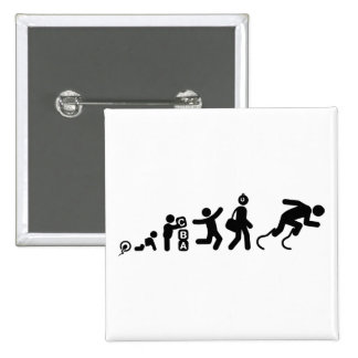 Physically Challenged Runner Pinback Buttons