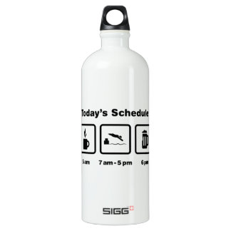 Physically Challenged Swimmer Aluminum Water Bottle