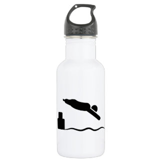 Physically Challenged Swimmer Stainless Steel Water Bottle