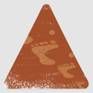 Physically challenged triangle sticker