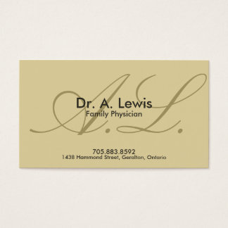 Physician and Medical Business Card - Monogram