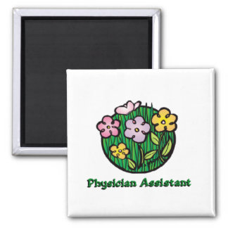 Physician Assistant Blooms 2 Inch Square Magnet