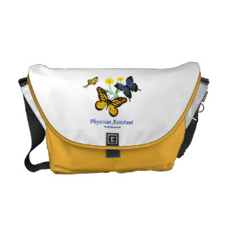 Physician Assistant Butterflies Courier Bag