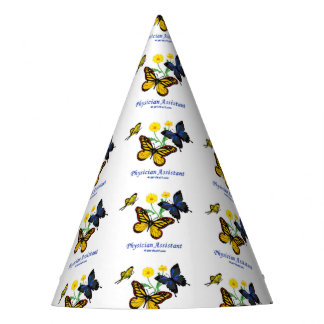 Physician Assistant - Butterflies Party Hat