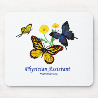 Physician Assistant Butterfly Mouse Mats