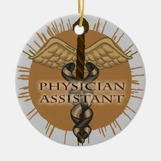 Physician Assistant Caduceus ceramic ornament