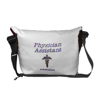 Physician Assistant Caduceus Messenger Bag