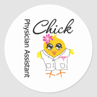 Physician Assistant Chick v2 Round Sticker