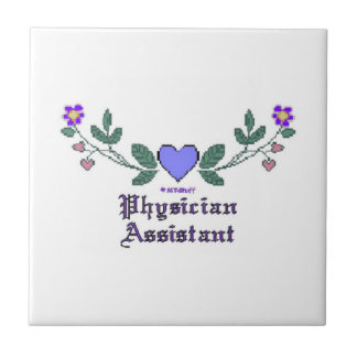 Physician Assistant Cross Stitch Print Tile