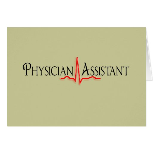Physician Assistant Gifts, QRS Design Card