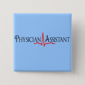 Physician Assistant Gifts, QRS Design Pinback Button
