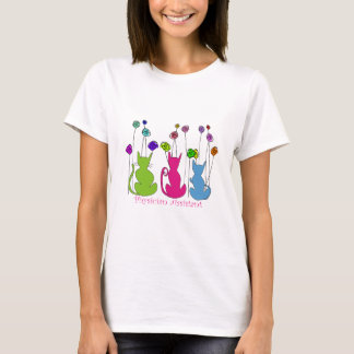 Physician Assistant Gifts Whimsical Cats Design T-Shirt