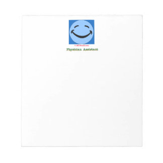 Physician Assistant Happy Face Memo Notepads