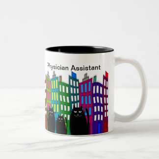 Physician Assistant Mug Whimsical Cats Design