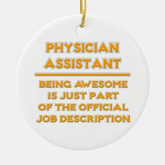 Physician Assistant .. Official Job Description Ceramic Ornament
