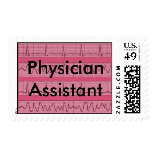 Physician Assistant Postage Stamps Pink