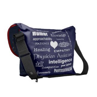 Physician Assistant QualitiesWhite Heart+Initials Messenger Bag