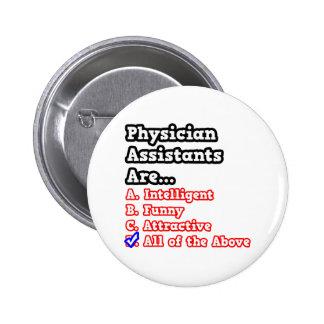 Physician Assistant Quiz...Joke Pinback Button