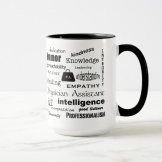 Physician Assistant-Word Cloud/Black Mug