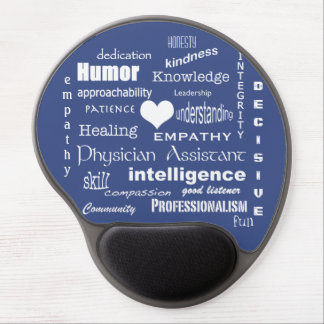 Physician Assistant Word-Cloud Gel Mouse Pad