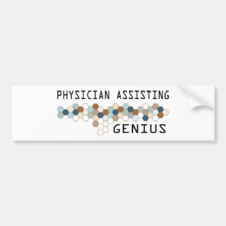 Physician Assisting Genius Bumper Sticker