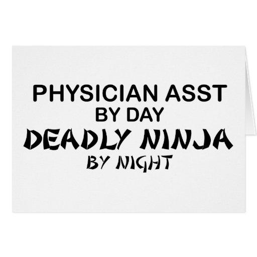 Physician Asst Deadly Ninja Greeting Card