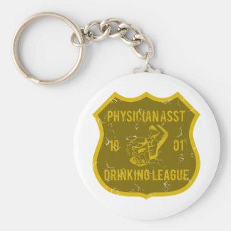 Physician Asst Drinking League Keychain