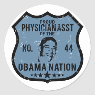 Physician Asst Obama Nation Classic Round Sticker