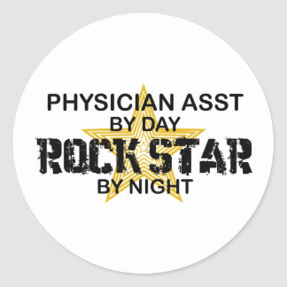 Physician Asst Rock Star by Night Classic Round Sticker