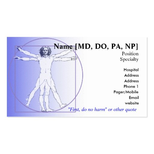 Physician business card zazzle for Physician business cards