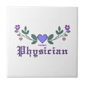 Physician Cross-Stitch Print Tile