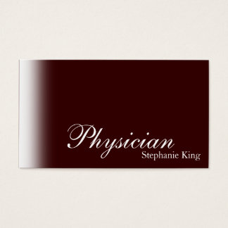 Physician Doctor Business Card Simle Brown White
