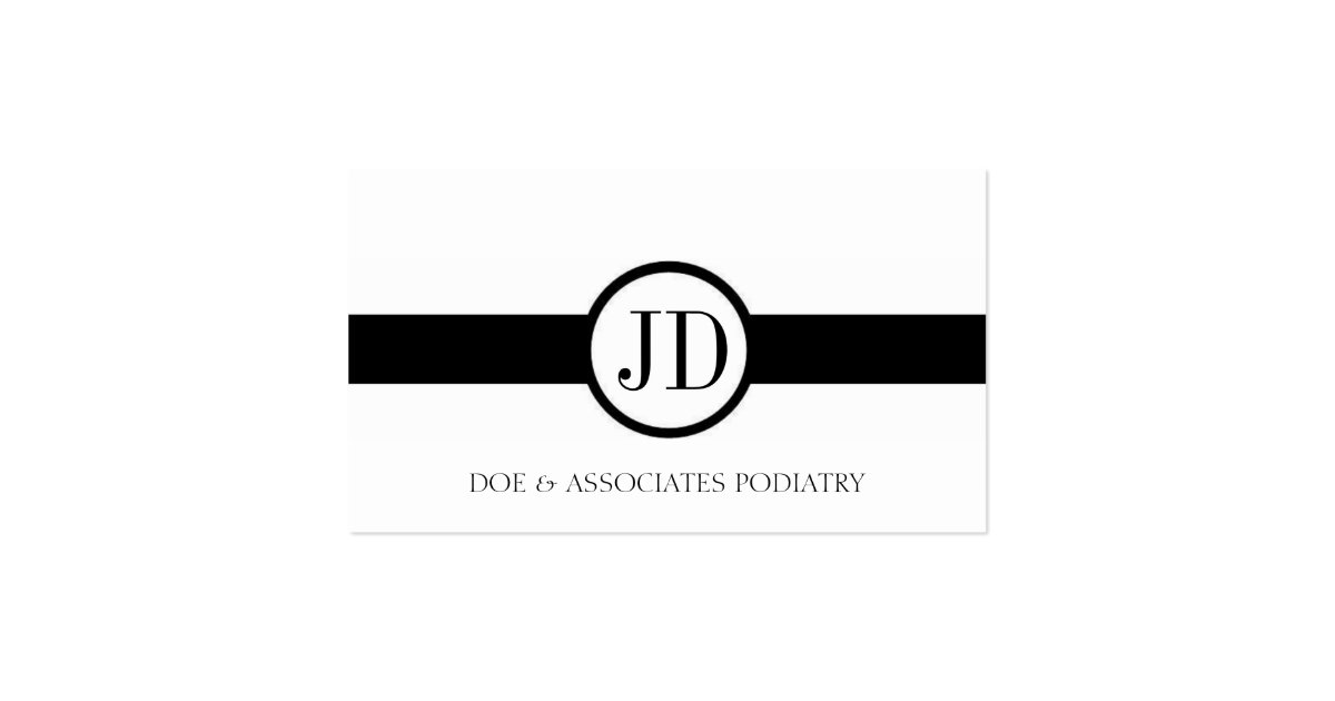 Physician Doctor MD Medical Ribbon Round Monogram Business