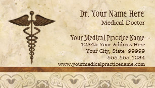 Doctors business cards zazzle physician medical doctor practice medicine symbol business card colourmoves