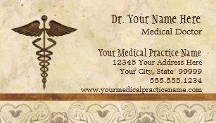 Doctors business cards templates zazzle physician medical doctor practice medicine symbol business card colourmoves