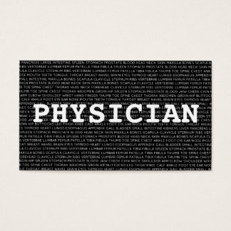 Physician Medical Words Business Card