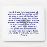 Physician's Prayer Mouse pad