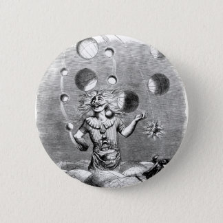 Physicist Juggling with the Planets Pinback Button