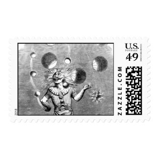 Physicist Juggling with the Planets Stamp