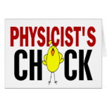 PHYSICIST'S CHICK GREETING CARDS